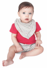 Scribble Print Organic Bandana Bib - Angelic Threads