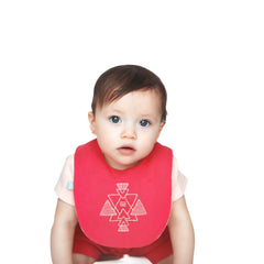 Rose Red Organic Bib - Angelic Threads