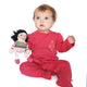 Rose Red Organic Cotton Footie