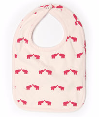 Elephant Organic Cotton Reversible Bib
