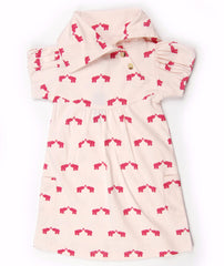 Elephant Puff Sleeve Organic Cotton Lounge Dress