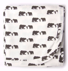 Three Bears Organic Cotton Receiving Blanket