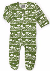 Mushroom Organic Cotton Footie Jumpsuit - Angelic Threads