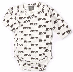Kate Quinn Three Bears Organic Cotton Kimono Bodysuit