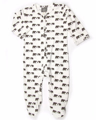Three Bears Organic Cotton Footie Jumpsuit