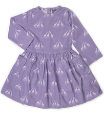 Purple Giraffe Organic Cotton Bubble Dress