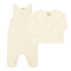 Newborn Sleeveless Organic Cotton Suit & Cardigan Sweater - Angelic Threads