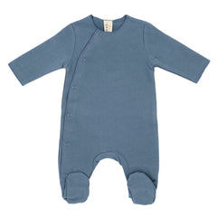 Newborn Grey Melange Organic Italian Fleece Suit with Snaps - Angelic Threads