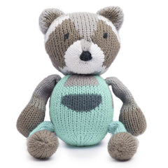 Ramsay the Raccoon Organic Rattle Buddy - Angelic Threads