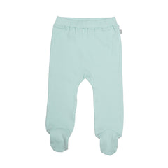 Gossamer Green Organic Cotton Footed Pants