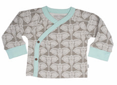 Elephants Organic Cotton Kimono Top