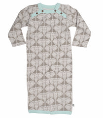 Elephants Organic Cotton Convertible Gown