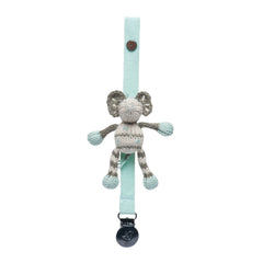 Kellan The Elephant Organic Pacifier Holder