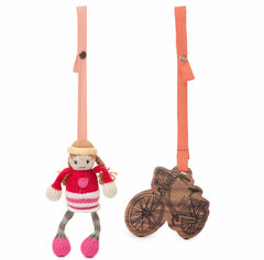 Clementine & Bike Stroller Buddy Set - Angelic Threads