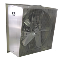 "Pinnacle 36"" Galvanized Exhaust Fan in Slant Wall Housing, 5-Wing, 1/2 Hp, Belt Drive, 3-Phase, VFD Compatible"