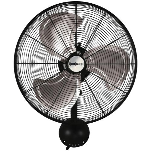 Hurricane® Pro High Velocity Oscillating Metal Wall Mount Fan 20 in