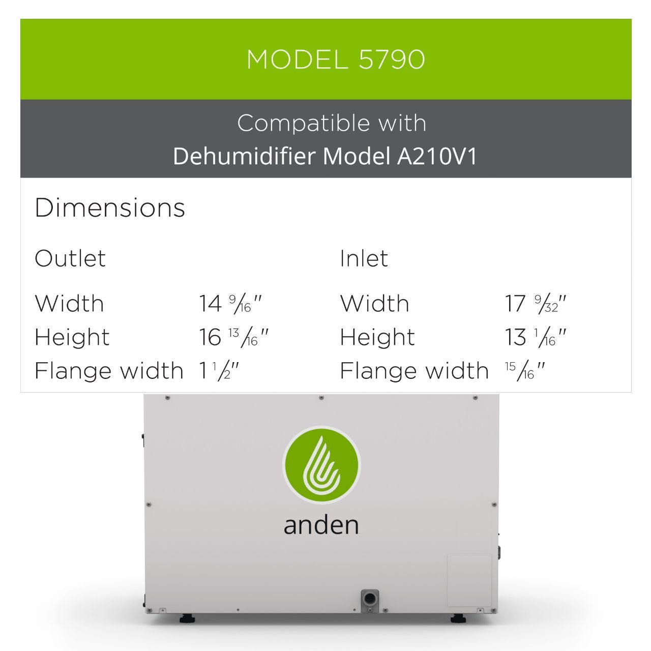 Duct Kit for Anden A210V1