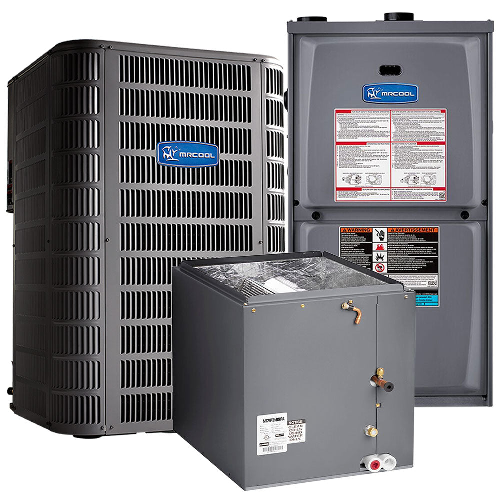 "MrCool MRCOOL 95% AFUE 70K BTU 4 Ton Downflow Single-Stage Multi-Speed ECM Motor Low Nox Gas Furnace with 17.5"" Cabinet"