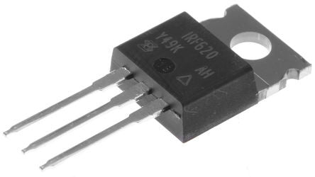 IRF620 N-channel MOSFET Transistor, 5.2 A, 200 V, 3-Pin TO-220AB