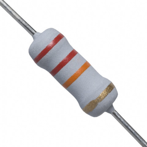 RES-22K-1W Through Hole Resistor, ROX Series, 22 kohm, 1 W, ± 5%, Axial Leaded