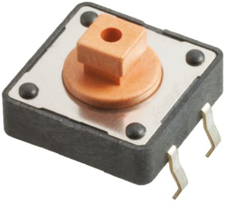 Tact Switch, Normally Open (NO), 12.5mm, 12V