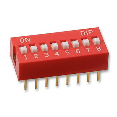 "8 Way DIP Switch 0.1"" (2.54mm) pitch"