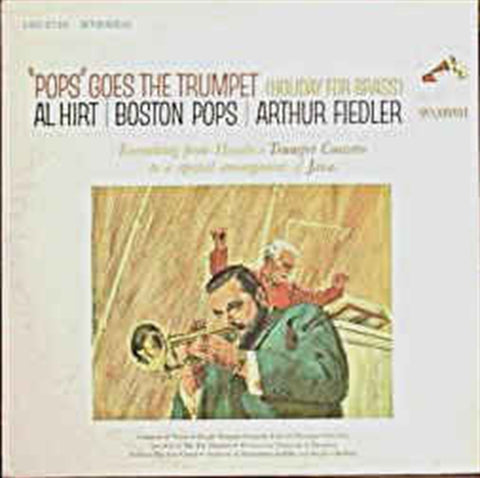 "AL HIRT "" Pop Goes the Trumpet"" with The Boston Pops Orch. vinyl album"