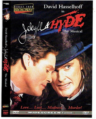 "JEKYLL & HYDE ""The Musical"" DVD with David Hasselhoff"
