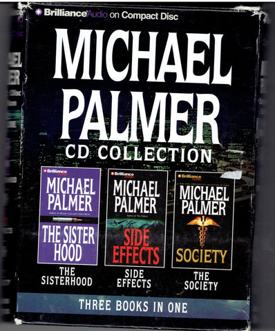 "MICHAEL PALMER -3 BOOKS ""Sister Hood"" ""Side Effects""""Society"""