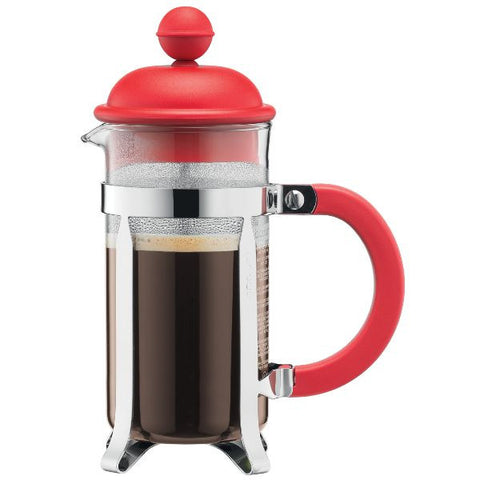 BODUM Cafetière à piston ''French Press'' 8 Tasses Rouge - Caffetiera