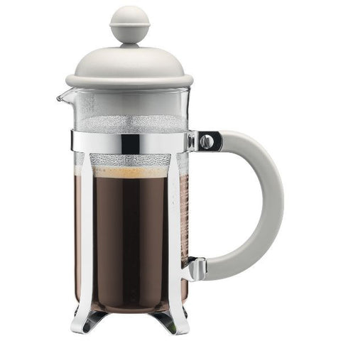 BODUM Cafetière à piston ''French Press'' 8 Tasses Blanc Crème - Caffetiera