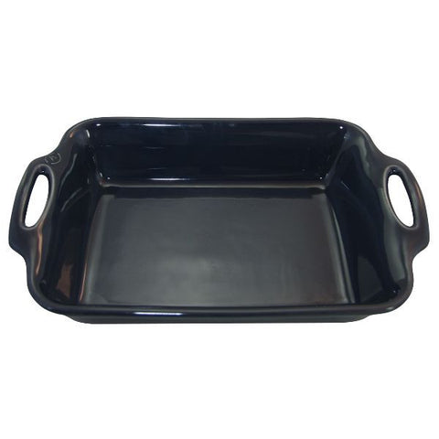 APPOLIA Plat rectangle 34 cm Ardoise - Harmonie
