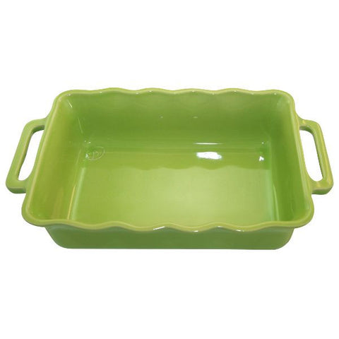 APPOLIA Plat rectangle 30.5 cm Citron Vert - Délices