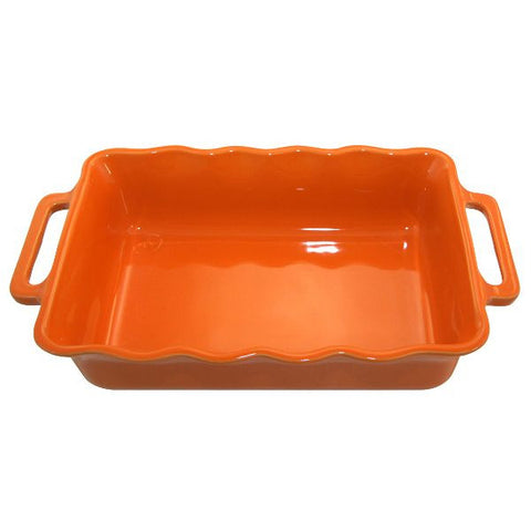 APPOLIA Plat rectangle 30.5 cm Mandarine - Délices