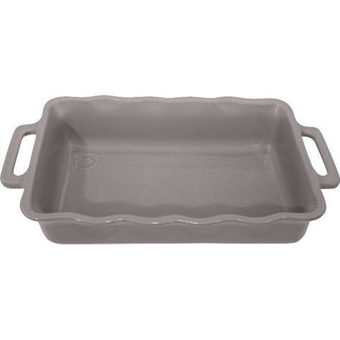 APPOLIA Plat rectangle 30.5 cm Gris Argent - Délices