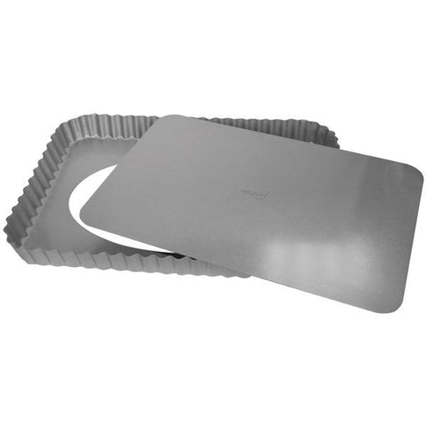 PATISSE Moule à tarte rectangle 32 x 22 x 2.8 cm - Silver Top