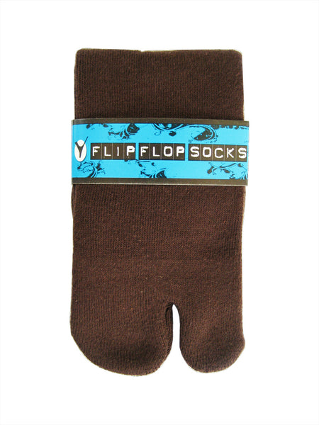 Brown Flip-Flop Tabi Socks