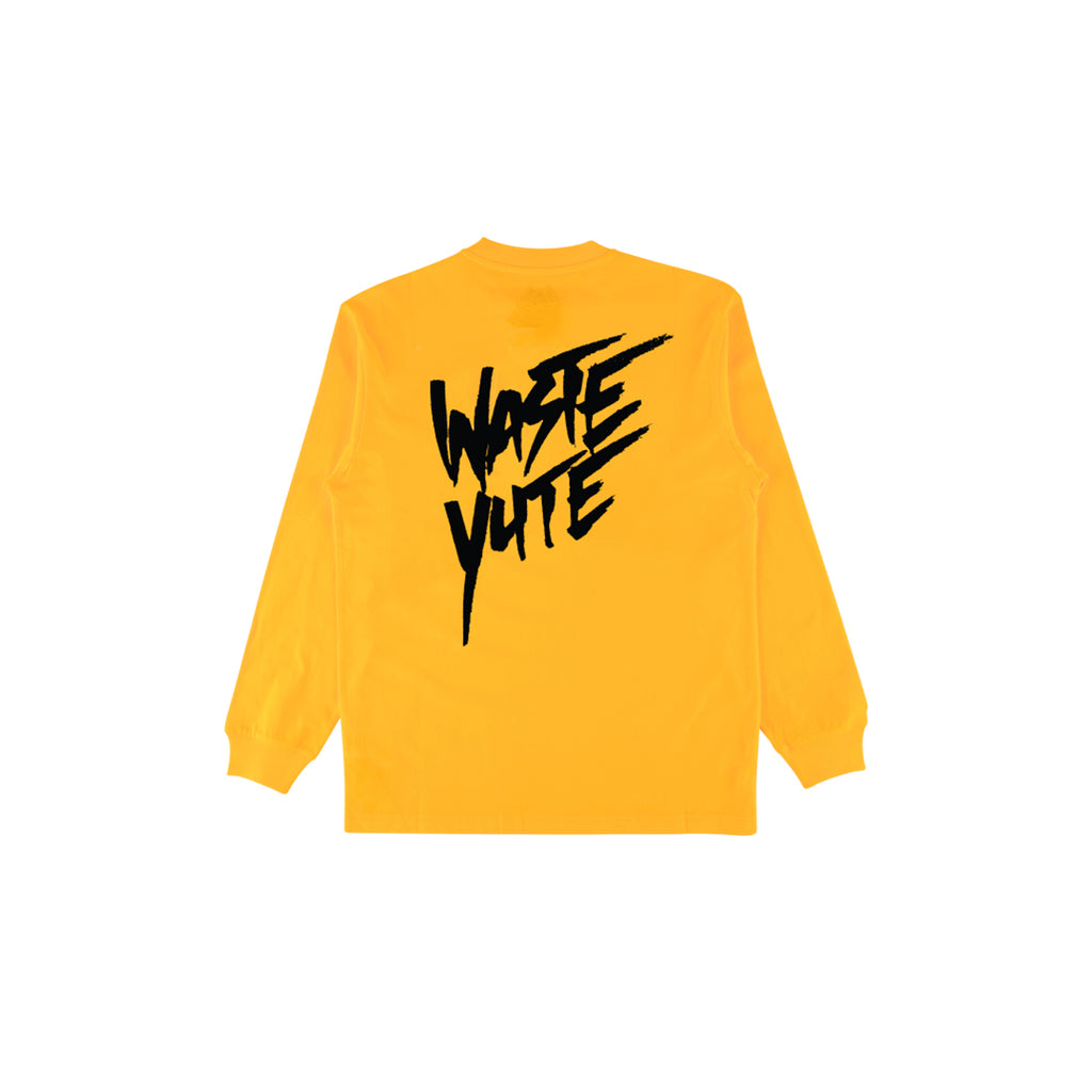 PURELUCKX + UPLIFTED SOCIETY WASTE YUTE LONG SLEEVE [YELLOW]