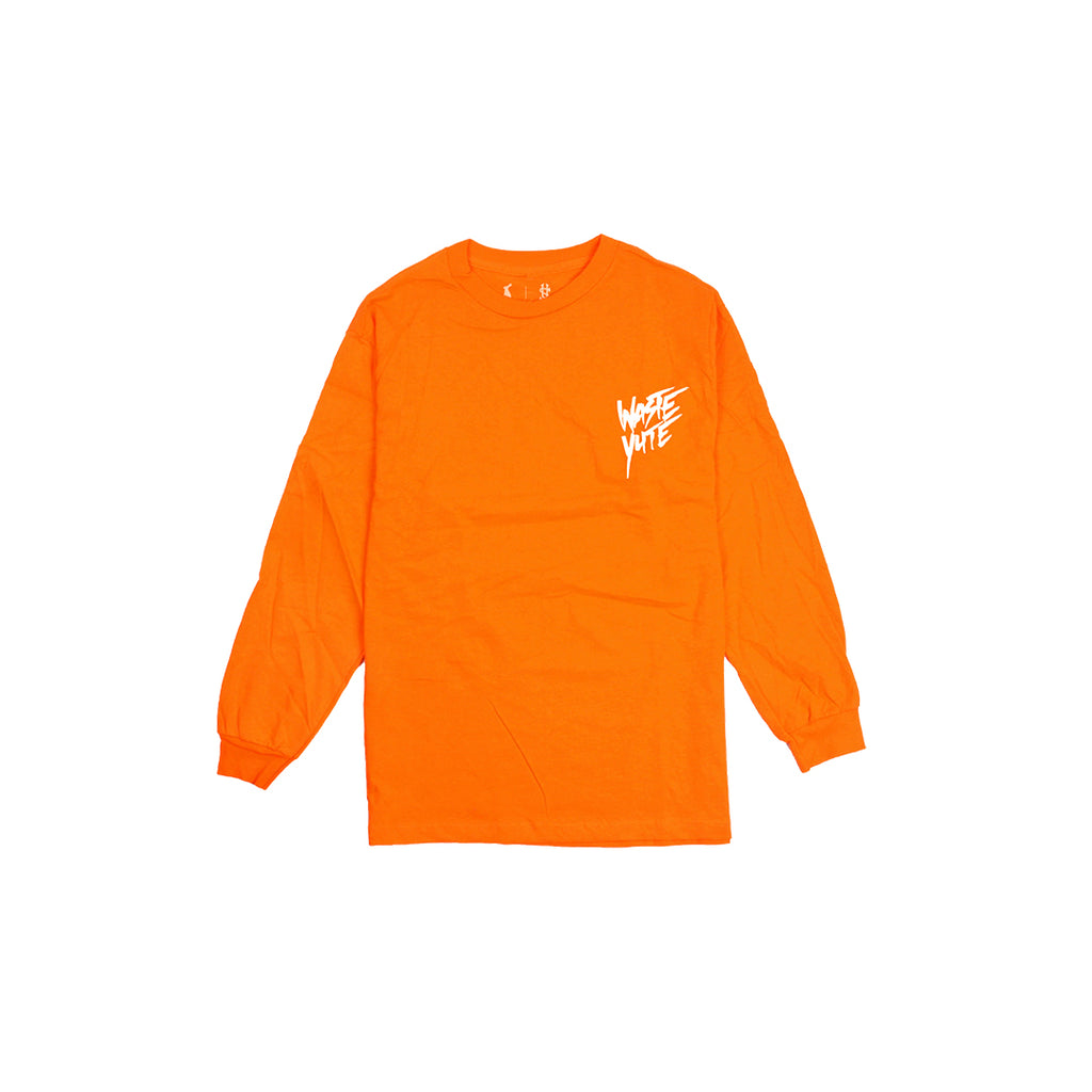PURELUCKX + UPLIFTED SOCIETY WASTE YUTE LONG SLEEVE [ORANGE]