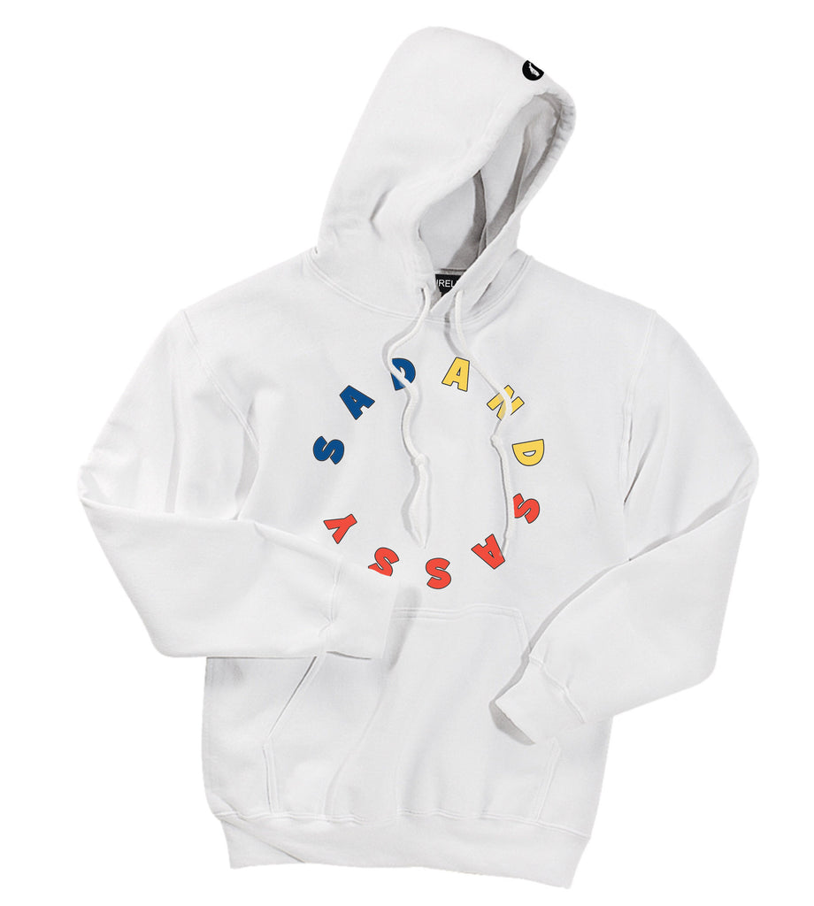 SAD AND SASSY HOODIE [WHITE]