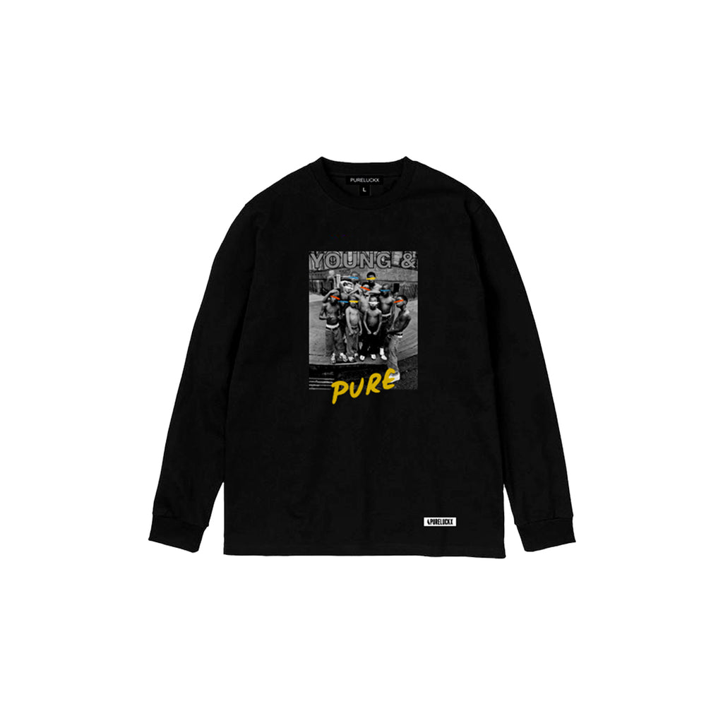 YOUNG & PURE LONG SLEEVE [BLACK]