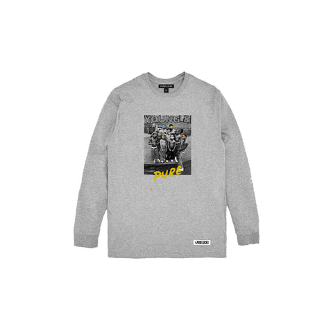 YOUNG & PURE LONG SLEEVE [GREY]