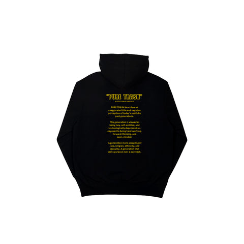 YOUNG & PURE HOODIE [BLACK]
