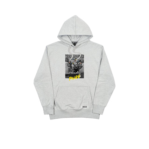 YOUNG & PURE HOODIE [GREY]