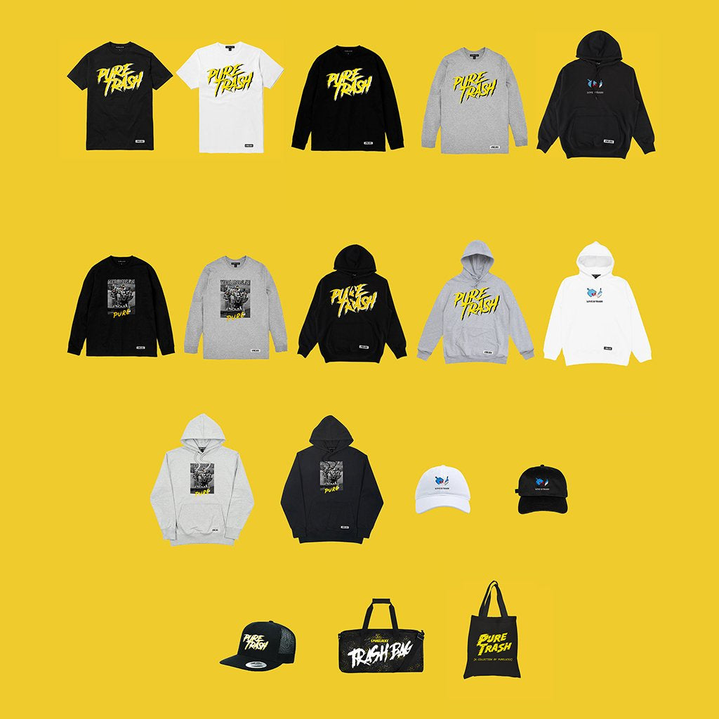 PURE TRASH COLLECTION NOW AVAILABLE!