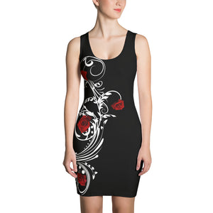 Crazy for Roses Tank Dress
