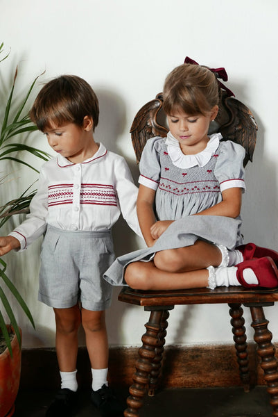 "Camisa ""Bordeaux"" Para Menino - ""Bordeaux"" Boy's Shirt"