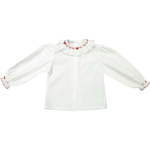 Blusa Bordada Vermelha - Handembroided Red Blouse