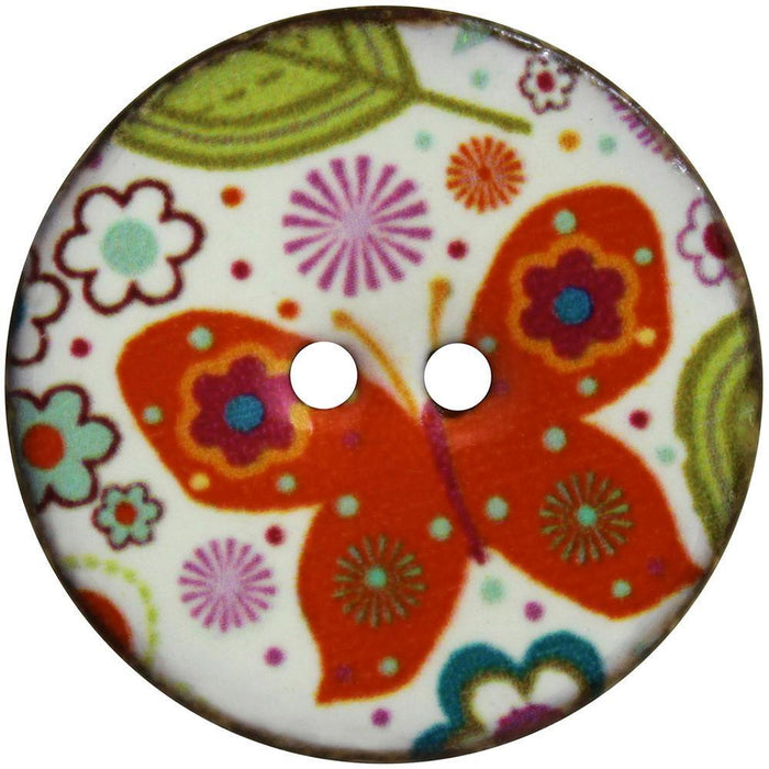 Inspire Buttons 34 mm / Butterfly (2 per card) Accessories HA Kidd The Wool Queen