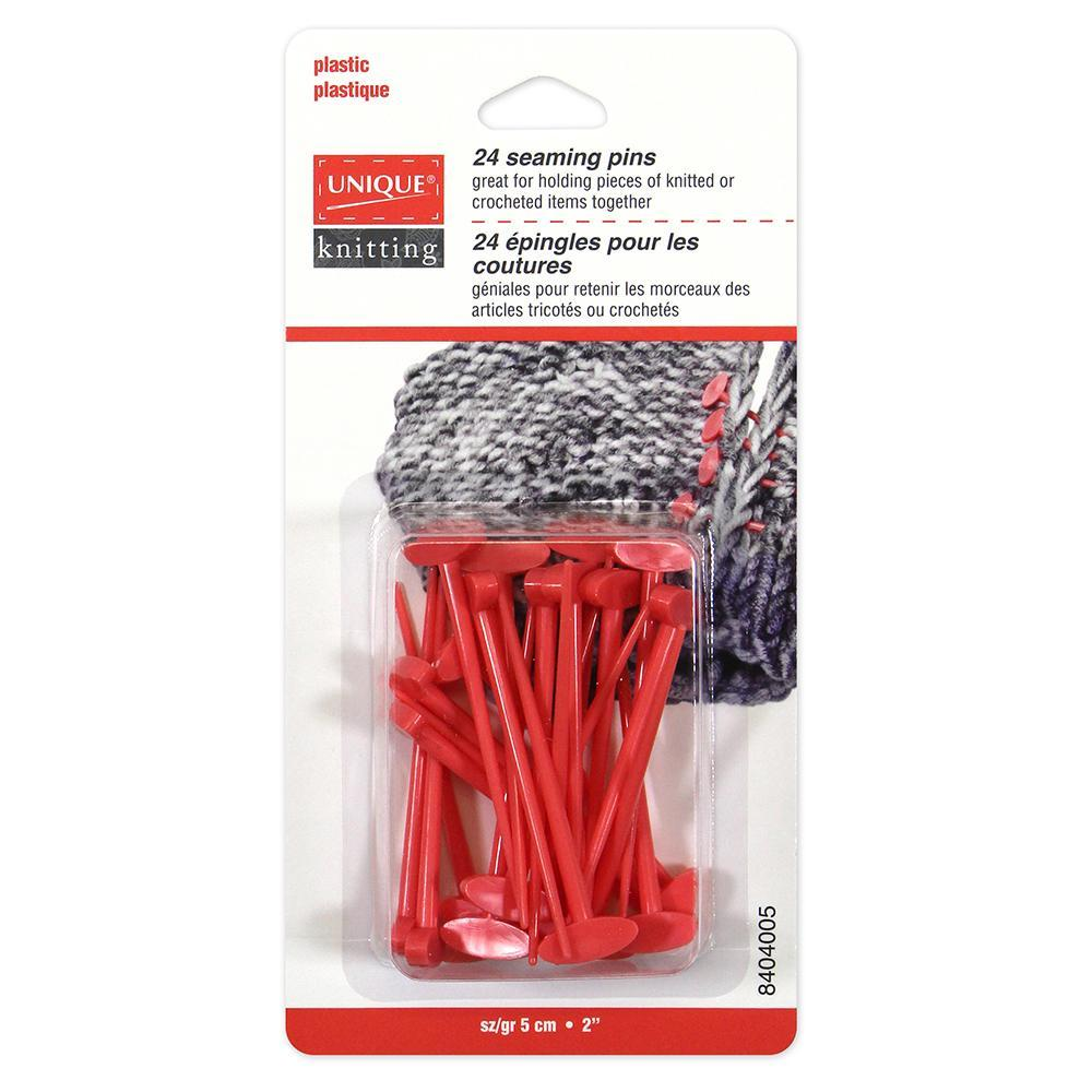 UNIQUE KNITTING Seaming Pins - 24 pcs Accessories The Wool Queen The Wool Queen